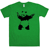 Banksy Kick Ass Panda T-Shirt