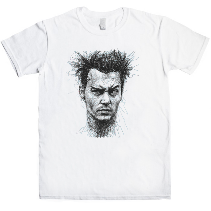 Johnny Depp Sketch T-Shirt